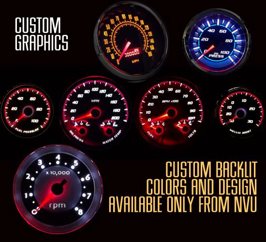 custom design gauges backlit led stepper