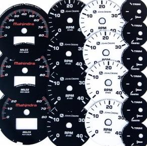 prototype dial gauge overlay cluster printing screenprint